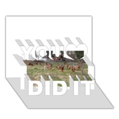 Bloodhounds Working You Did It 3D Greeting Card (7x5)