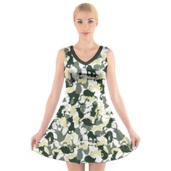 Camouflage cat V-Neck Sleeveless Dress