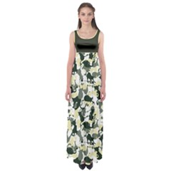 Camouflage_02 Empire Waist Maxi Dress