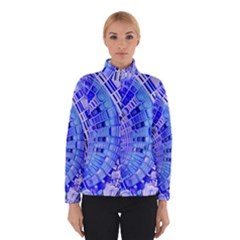 Semi Circles Abstract Geometric Modern Art Blue  Winterwear