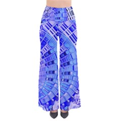 Semi Circles Abstract Geometric Modern Art Blue  Pants