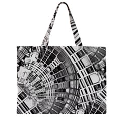 Semi Circles Abstract Geometric Modern Art Large Tote Bag