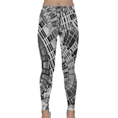 Semi Circles Abstract Geometric Modern Art Yoga Leggings