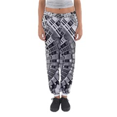 Semi Circles Abstract Geometric Modern Art Women s Jogger Sweatpants