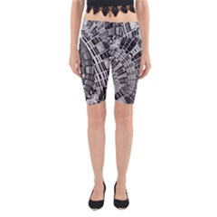 Semi Circles Abstract Geometric Modern Art Yoga Cropped Leggings