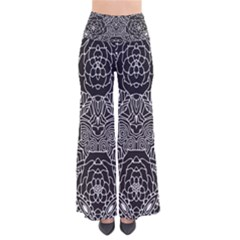 Mariager - Bold Flower Design - Black And White Pants