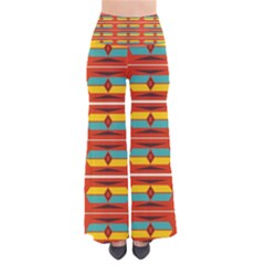 Shapes in retro colors pattern       Women s Chic Palazzo Pants