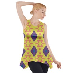 Tribal shapes and rhombus pattern                        Side Drop Tank Tunic