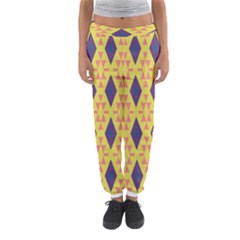 Tribal shapes and rhombus pattern                        Women s Jogger Sweatpants