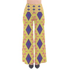 Tribal Shapes And Rhombus Pattern       Women s Chic Palazzo Pants