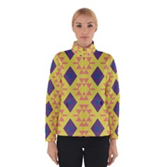 Tribal Shapes And Rhombus Pattern                        Winter Jacket