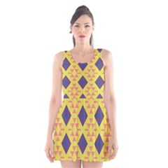 Tribal shapes and rhombus pattern                        Scoop Neck Skater Dress