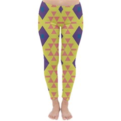 Tribal shapes and rhombus pattern                        Winter Leggings