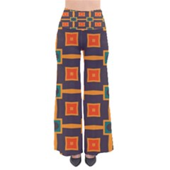 Connected shapes in retro colors        Women s Chic Palazzo Pants