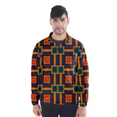 Connected shapes in retro colors                         Wind Breaker (Men)