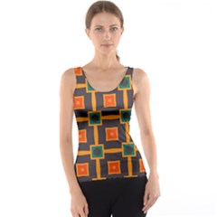 Connected shapes in retro colors                         Tank Top