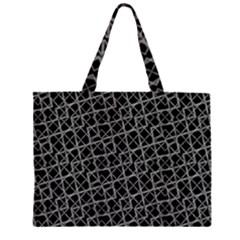Geometric Grunge Pattern Large Tote Bag