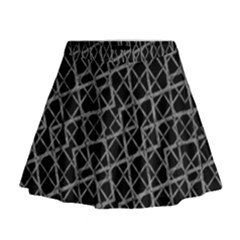Geometric Grunge Pattern Print Mini Flare Skirt