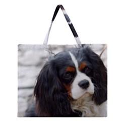 Cavalier King Charles Spaniel 2 Zipper Large Tote Bag