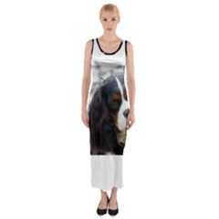 Cavalier King Charles Spaniel 2 Fitted Maxi Dress