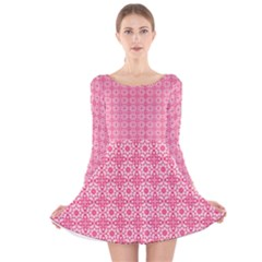 Pinkette Amalie  Long Sleeve Velvet Skater Dress