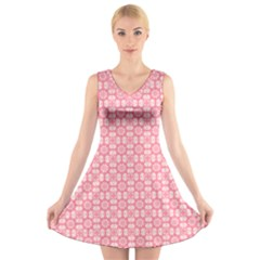 Pinkette Doreen V Neck Sleeveless Skater Dress