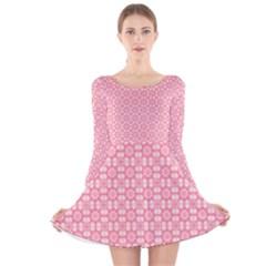 Pinkette Doreen Long Sleeve Velvet Skater Dress