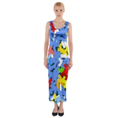 Rectangles mix                          Fitted Maxi Dress
