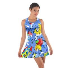 Rectangles Mix                          Cotton Racerback Dress