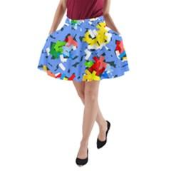 Rectangles mix                          A-Line Pocket Skirt