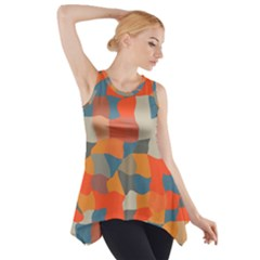 Retro colors distorted shapes                           Side Drop Tank Tunic