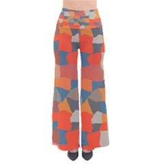 Retro Colors Distorted Shapes          Women s Chic Palazzo Pants