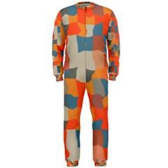 Retro colors distorted shapes                           OnePiece Jumpsuit (Men)
