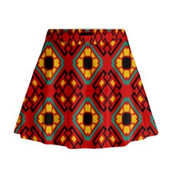 Flower Shapes Pattern                               Mini Flare Skirt