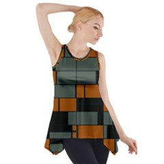 Rectangles in retro colors                              Side Drop Tank Tunic