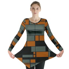 Rectangles in retro colors                              Long Sleeve Tunic