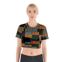 Rectangles In Retro Colors                              Cotton Crop Top