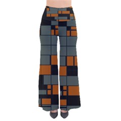 Rectangles In Retro Colors             Women s Chic Palazzo Pants