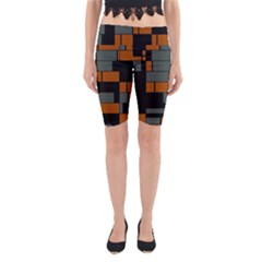 Rectangles in retro colors                              Yoga Cropped Leggings