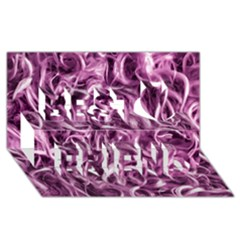 Textured Abstract Print Best Friends 3D Greeting Card (8x4)