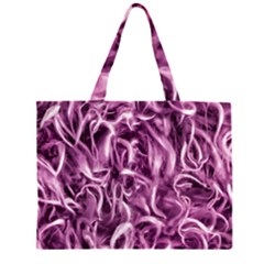 Textured Abstract Print Large Tote Bag