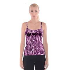 Textured Abstract Print Spaghetti Strap Top