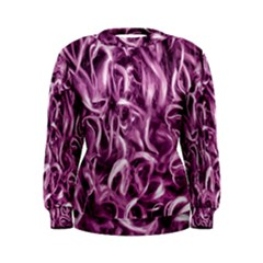 Textured Abstract Print Women s Sweatshirt