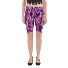 Textured Abstract Print Yoga Cropped Leggings