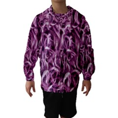 Textured Abstract Print Hooded Wind Breaker (Kids)
