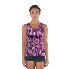 Textured Abstract Print Tops