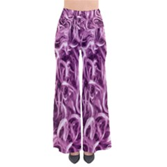 Textured Abstract Print Pants