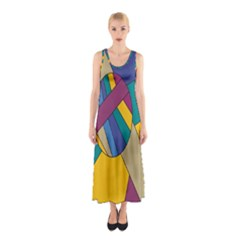 Unknown Abstract Modern Art By Eml180516 Sleeveless Maxi Dress