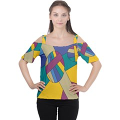 Unknown Abstract Modern Art By Eml180516 Women s Cutout Shoulder Tee