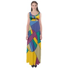 Unknown Abstract Modern Art By Eml180516 Empire Waist Maxi Dress